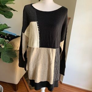 Style & Co Patch Knit Sweater